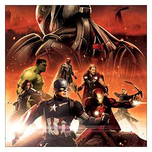 Avengers. Размер: 60 х 60 см